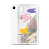 Glitter Silver Phone Case Abstract Print
