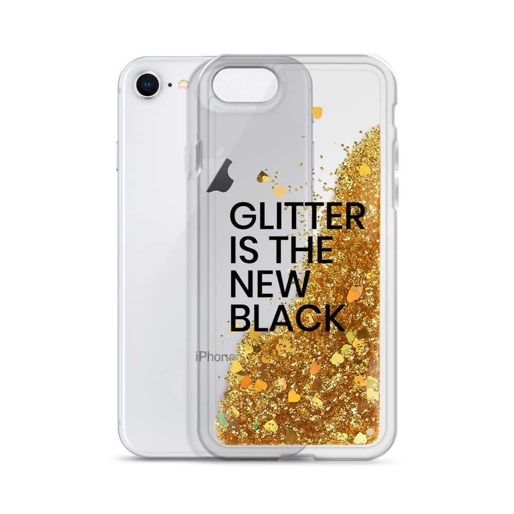 Gold Liquid Glitter Phone Case Glitter is the New Black