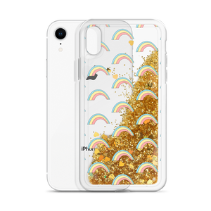 Rainbows Gold Glitter Phone Case