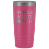 Vacuum Tumbler 20 Ounce Sparkle Like You Mean It in Pink