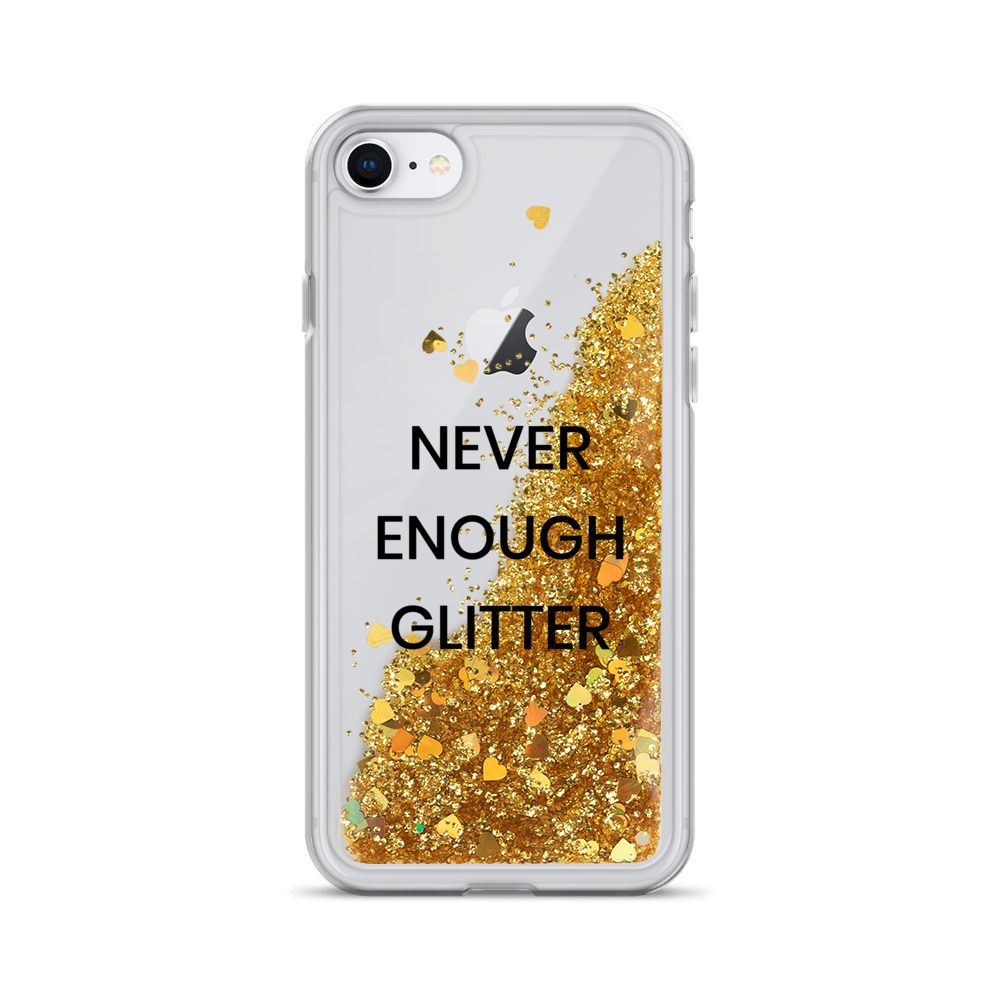 Gold Liquid Glitter iPhone Case Never Enough Glitter