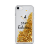 Gold Liquid Glitter iPhone Case Stay Fabulous