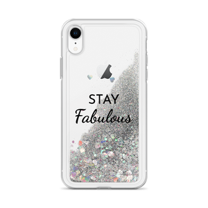 Glitter Silver iPhone Case Stay Fabulous