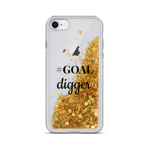 Gold Liquid Glitter iPhone Case #GOAL digger