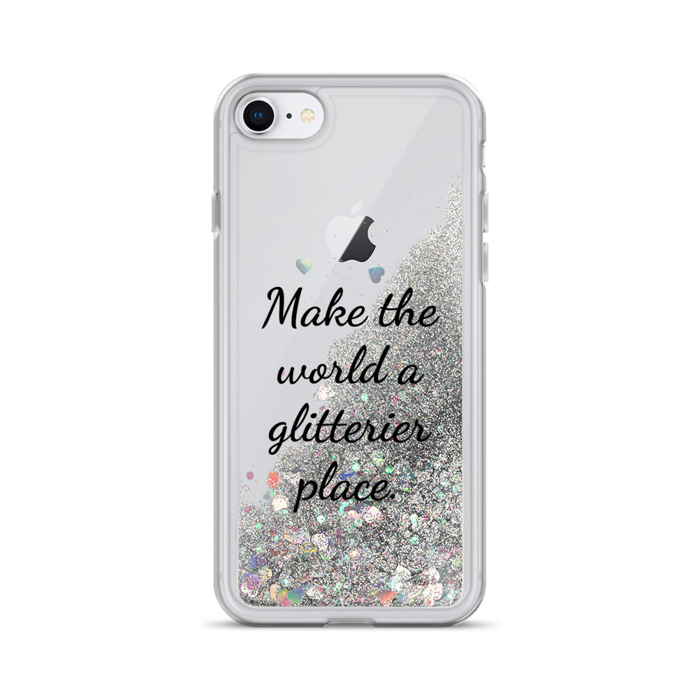 Silver Liquid Glitter iPhone Case Make the World a Glitterier Place