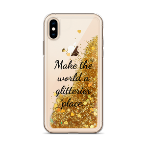 Gold Liquid Glitter Phone Case Make the World a Glitterier Place