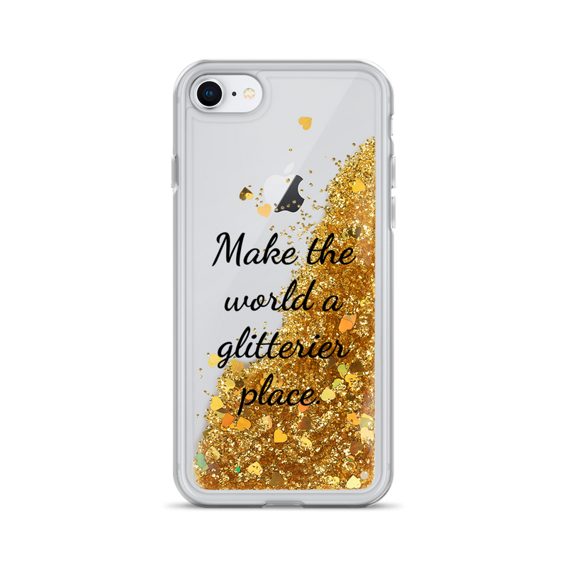 Gold Liquid Glitter iPhone Case Make the World a Glitterier Place