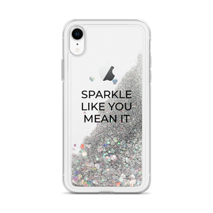 Glitter Silver iPhone Case Sparkle Like You Mean It