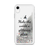 Glitter Silver iPhone Case Make the World a Glitterier Place