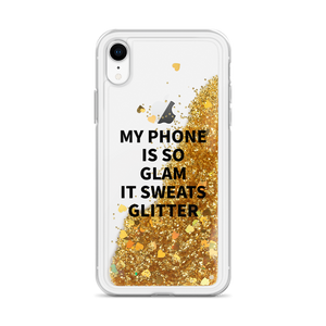 Gold iPhone Case My Phone Is So Glam It Sweats Glitter