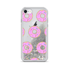 Silver Liquid Glitter iPhone Case Pink Donuts