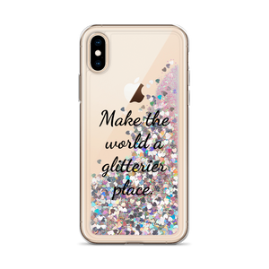 Pink Glitter iPhone Case Make the World a Glitterier Place