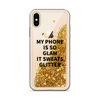 Gold Glitter iPhone Case My Phone Is So Glam It Sweats Glitter