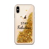 Gold Glitter iPhone Case Stay Fabulous