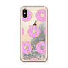 Silver Glitter iPhone Case Pink Donuts