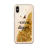 Gold Liquid Glitter iPhone Case GOAL digger
