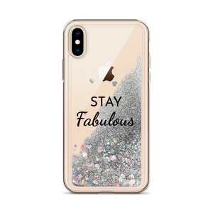 Silver Glitter iPhone Case Stay Fabulous