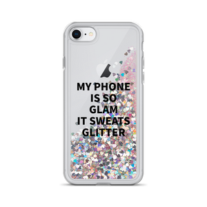 Pink Liquid Glitter iPhone Case My Phone Is So Glam It Sweats Glitter