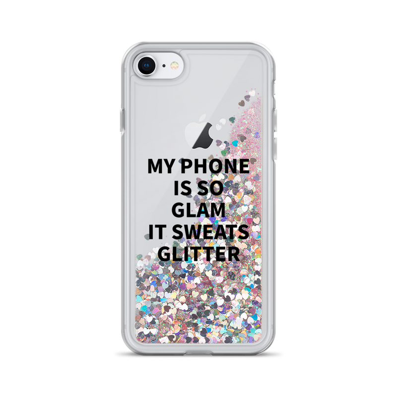 Pink Glitter iPhone Case My Phone Is So Glam It Sweats Glitter