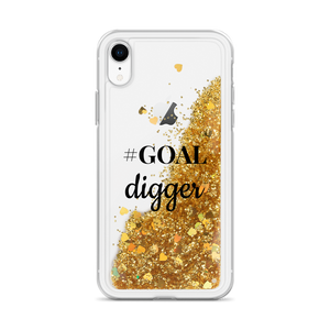 Gold Glitter iPhone Case #GOAL digger