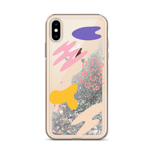 Silver Glitter iPhone Case Abstract Print