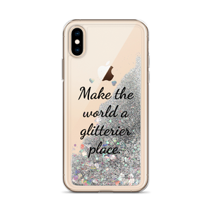 Silver Glitter iPhone Case Make the World a Glitterier Place
