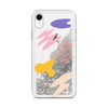 Glitter Silver iPhone Case Abstract Print