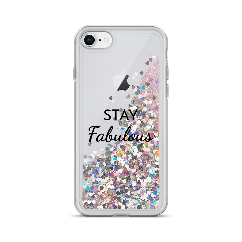 Pink Liquid Glitter iPhone Case Stay Fabulous