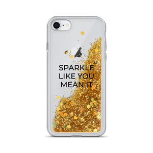 Gold Liquid Glitter iPhone Case Sparkle Like You Mean It