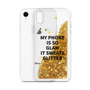 Gold Phone Case My Phone Is So Glam It Sweats Glitter