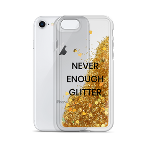 Gold Liquid Glitter Phone Case Never Enough Glitter