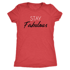 Tee Stay Fabulous in Vintage Red