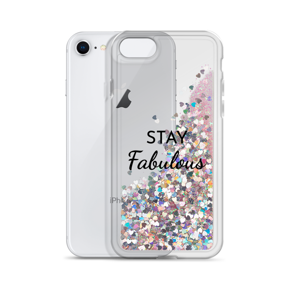 Pink Liquid Glitter Phone Case Stay Fabulous