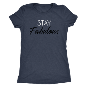 Tee Stay Fabulous in Vintage Navy Blue