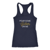 Racerback Tank Pour Some Glitter On Me in Navy Blue