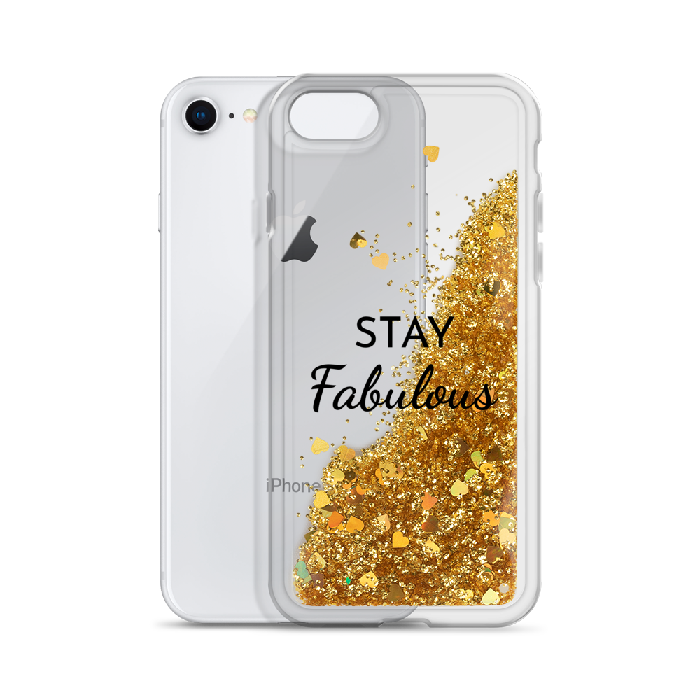 Gold Liquid Glitter Phone Case Stay Fabulous
