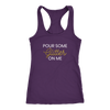 Racerback Tank Pour Some Glitter On Me in Purple