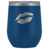 Wine Tumbler Lips in Blue