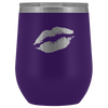 Wine Tumbler Lips in Purple