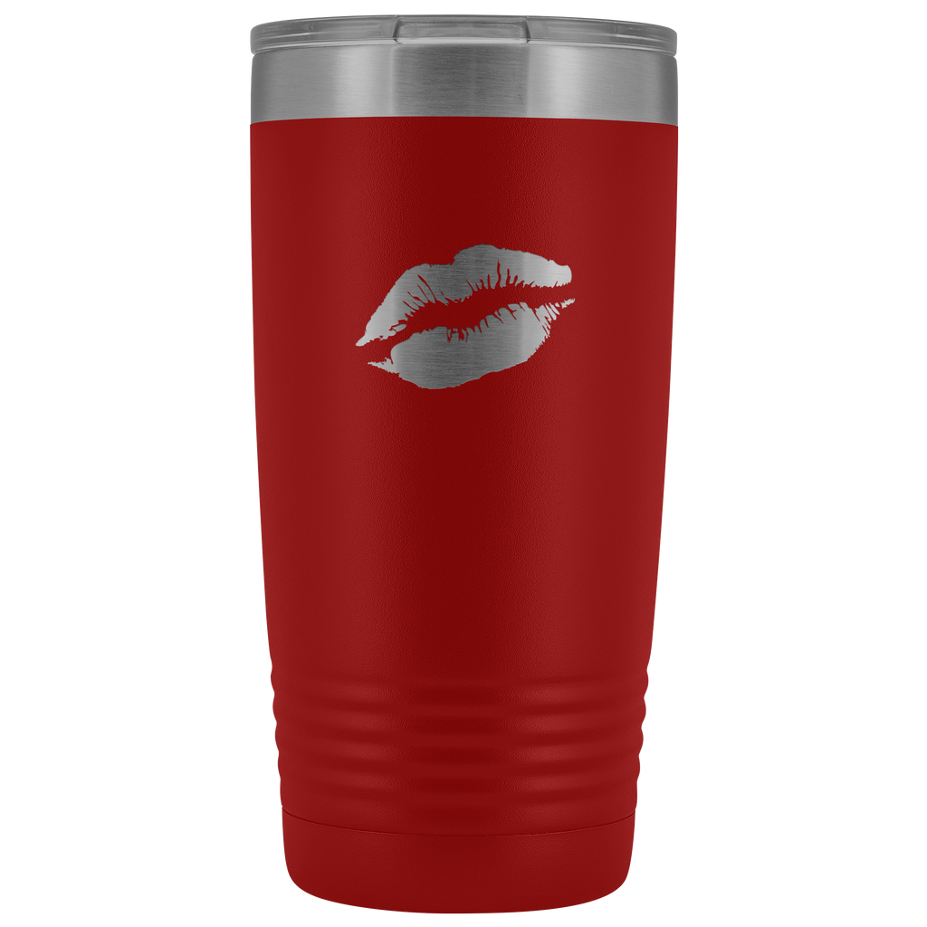 Vacuum Tumbler 20 Ounce Lips in Red