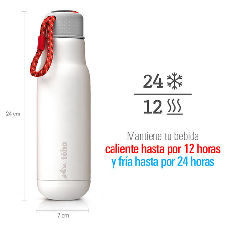 Termo de Acero Inoxidable 500 ml Blanco TOHO
