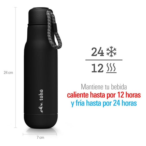 Termo de Acero Inoxidable 500 ml Negro TOHO