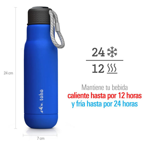 Termo de Acero Inoxidable 500 ml Azul TOHO