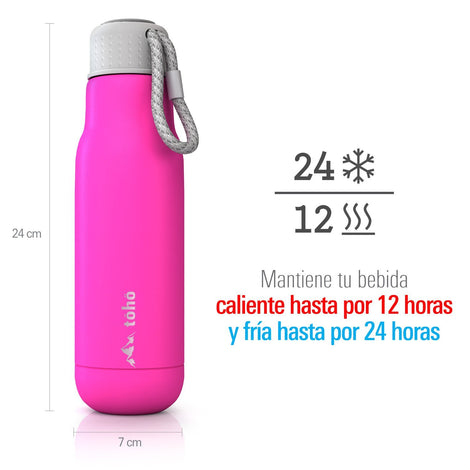 Termo de Acero Inoxidable 500 ml Rosa TOHO