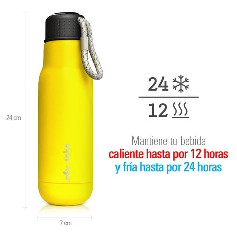 Termo de Acero Inoxidable 500 ml Amarillo TOHO