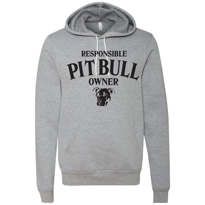 RESPONSIBLE PIT BULL OWNER - MIDWEIGHT PULLOVER HOODIE