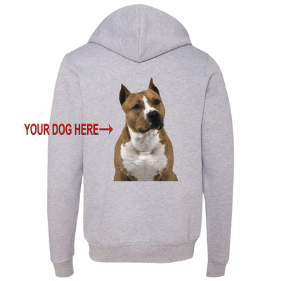 YOUR DOG - CUSTOM ZIPPER HOODED SWEATSHIRT (Multiple Colors)