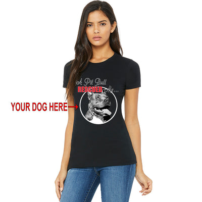 A PIT BULL RESCUED ME - YOUR DOG - WOMEN'S TEES & TANKS