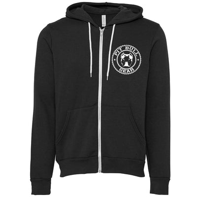 PIT BULL GEAR GYM - ZIPPER HOODED FLEECE (Multiple Colors)
