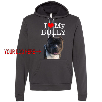 I LOVE MY BULLY - YOUR DOG - MIDWEIGHT PULLOVER HOODIE